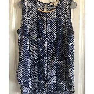 Michael Kors Abtract Blue/White blouse